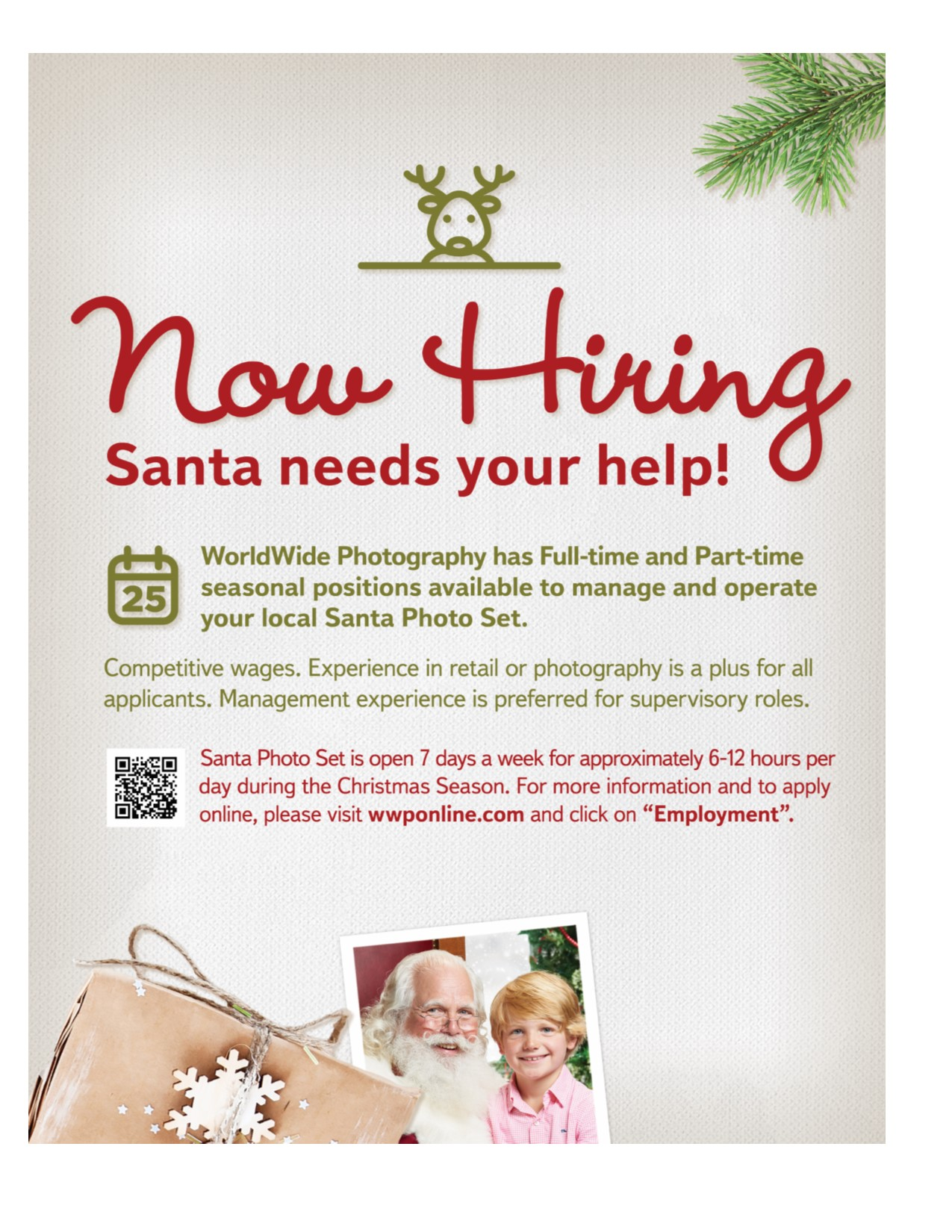 Santa Photo hiring flier 2017