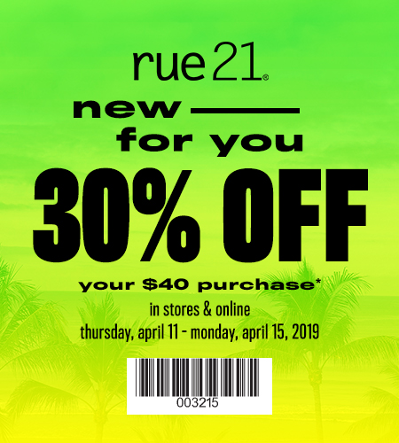 picture regarding Rue 21 Coupons Printable named rue21 Merle Hay Shopping mall